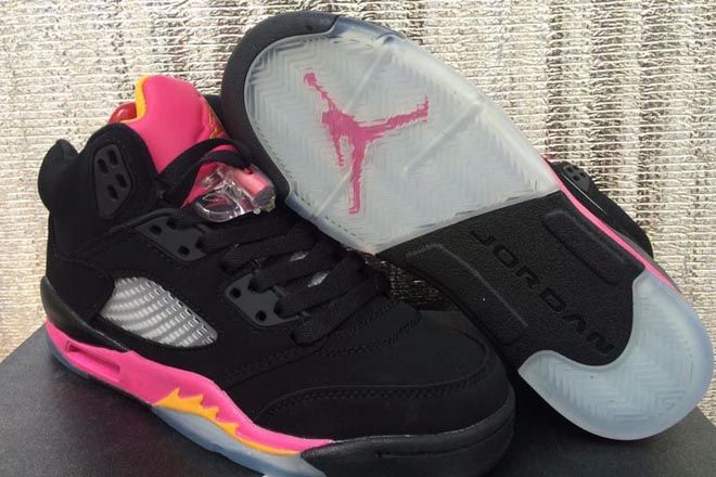Air Jordan Fusion 8 Womens Black Pink shoes