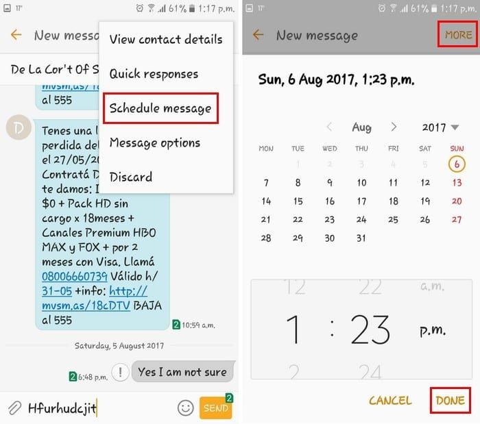 Android Schedule Text Message (With images) Text