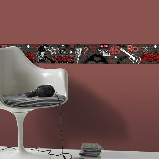 Frise vinyle adhésive Rock, longueur 5 m | #LileAuxAdos | Pinterest ...