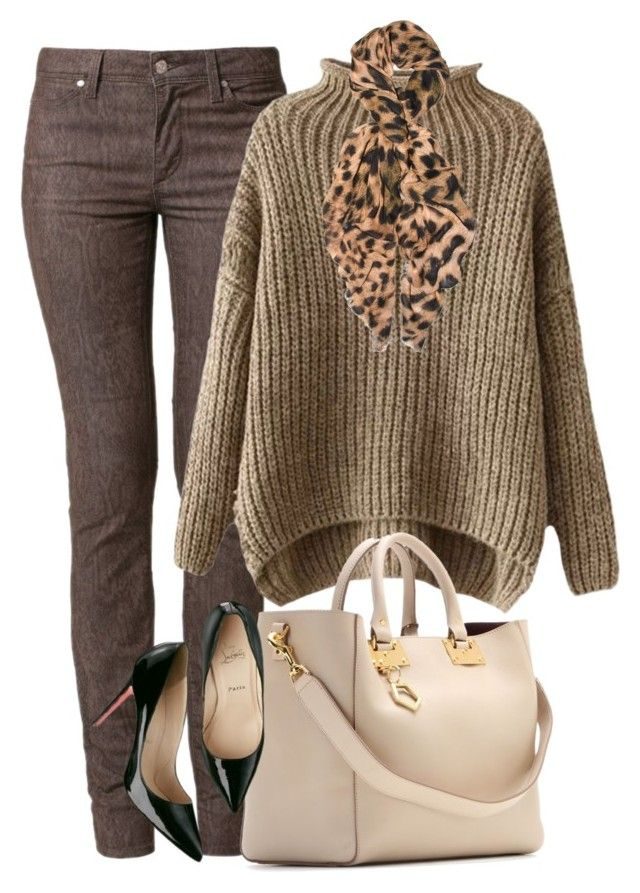 """""""Sand Storm"""" by lisa-holt ❤ liked on Polyvore featuring Bogner, Sophie Hulme, Feather & Stone and Christian Louboutin"""