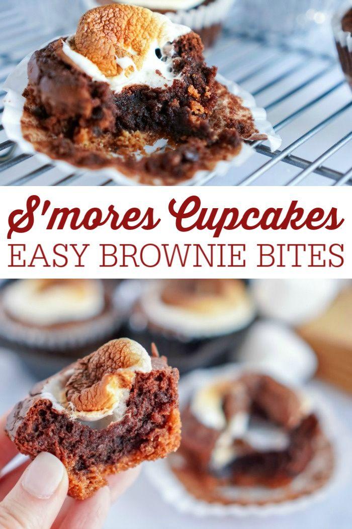 Easy S'mores Brownies Cupcakes Recipe Cupcake recipes