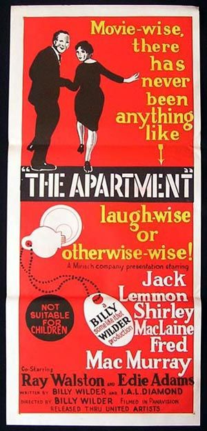 The Apartment Movie Poster 1960 Billy Wilder Jack Lemmon Daybill