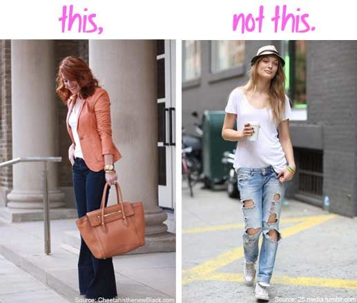 add95a7fcbe Too casual for work  Don t make these common work fashion mistakes ...