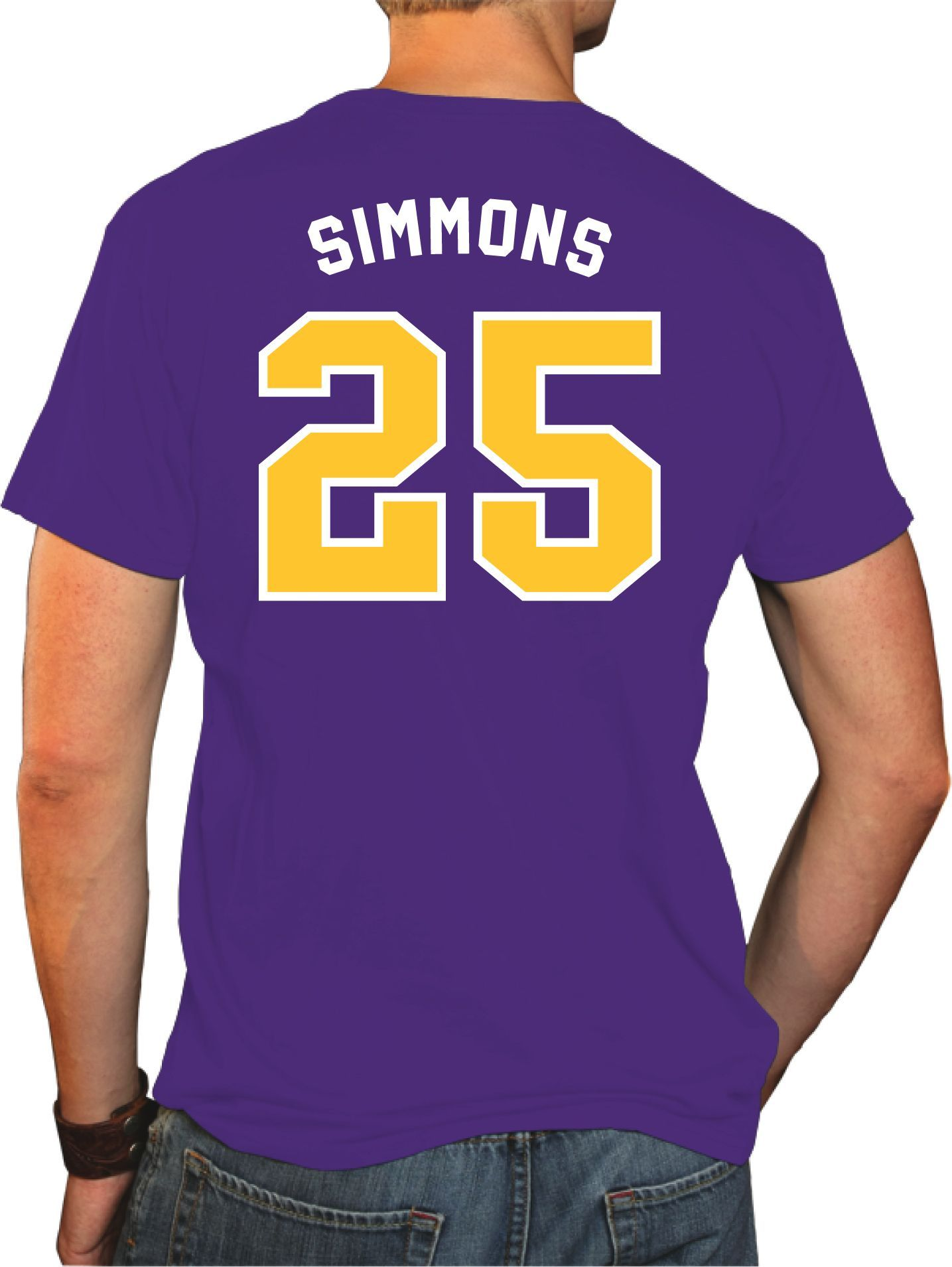 newest collection d6f49 46bb5 Original Retro Brand Men's LSU Tigers Ben Simmons #25 Purple ...