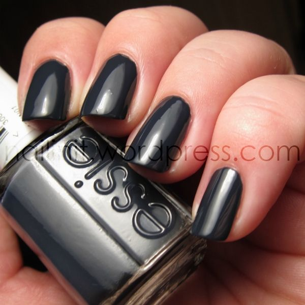 Essie \'Bobbing For Baubles\'...described as a dark, navy blue creme ...