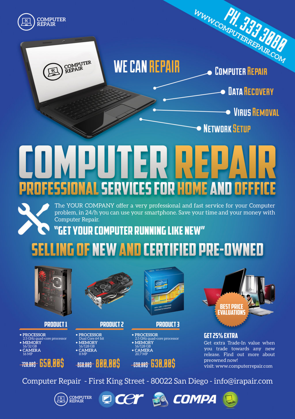 Template Flyer Computer Google Search Computer Repair Computer Repair Services Flyer Template