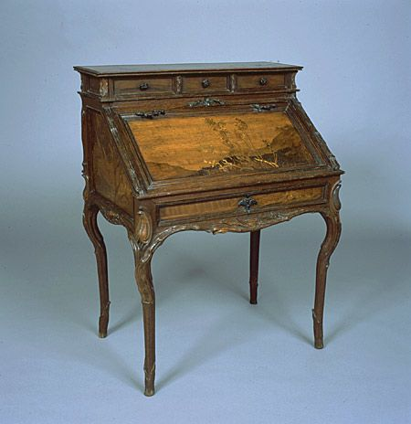 Emile Galle\u0027s meubles parlantes, (speaking furniture), was shown at