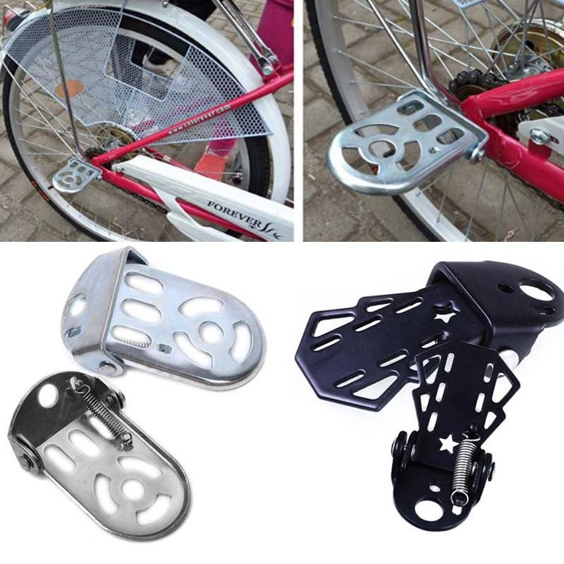 1 Pair Bike Rear Foot Pedal Mountain Bicycle Back Seat Thickening Accessory