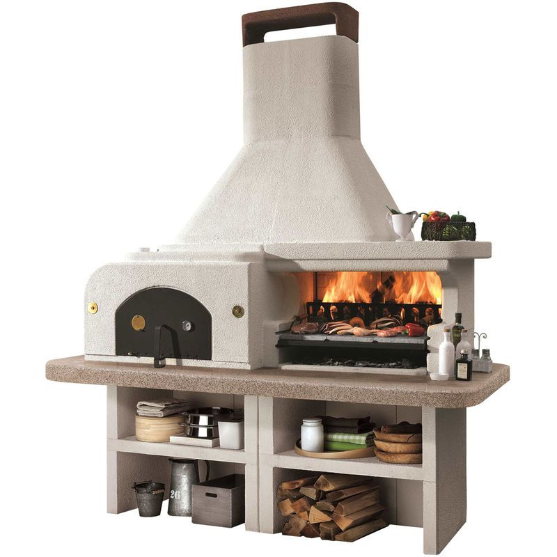 Barbecue pierre gargano avec four pizza id es jardin for Construire un four a pizza exterieur