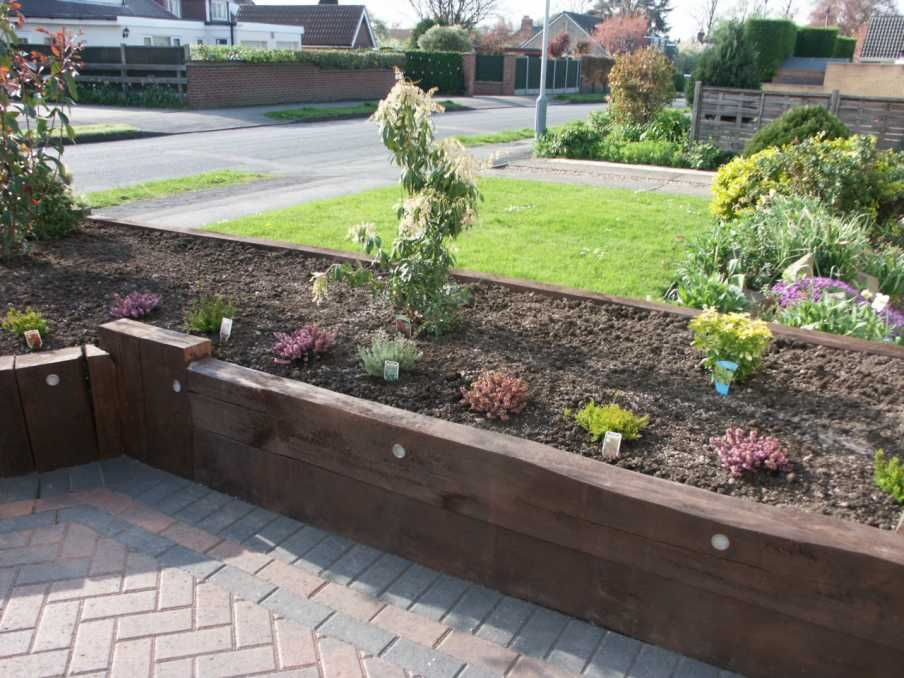 john ropers raised bed using railway sleepers