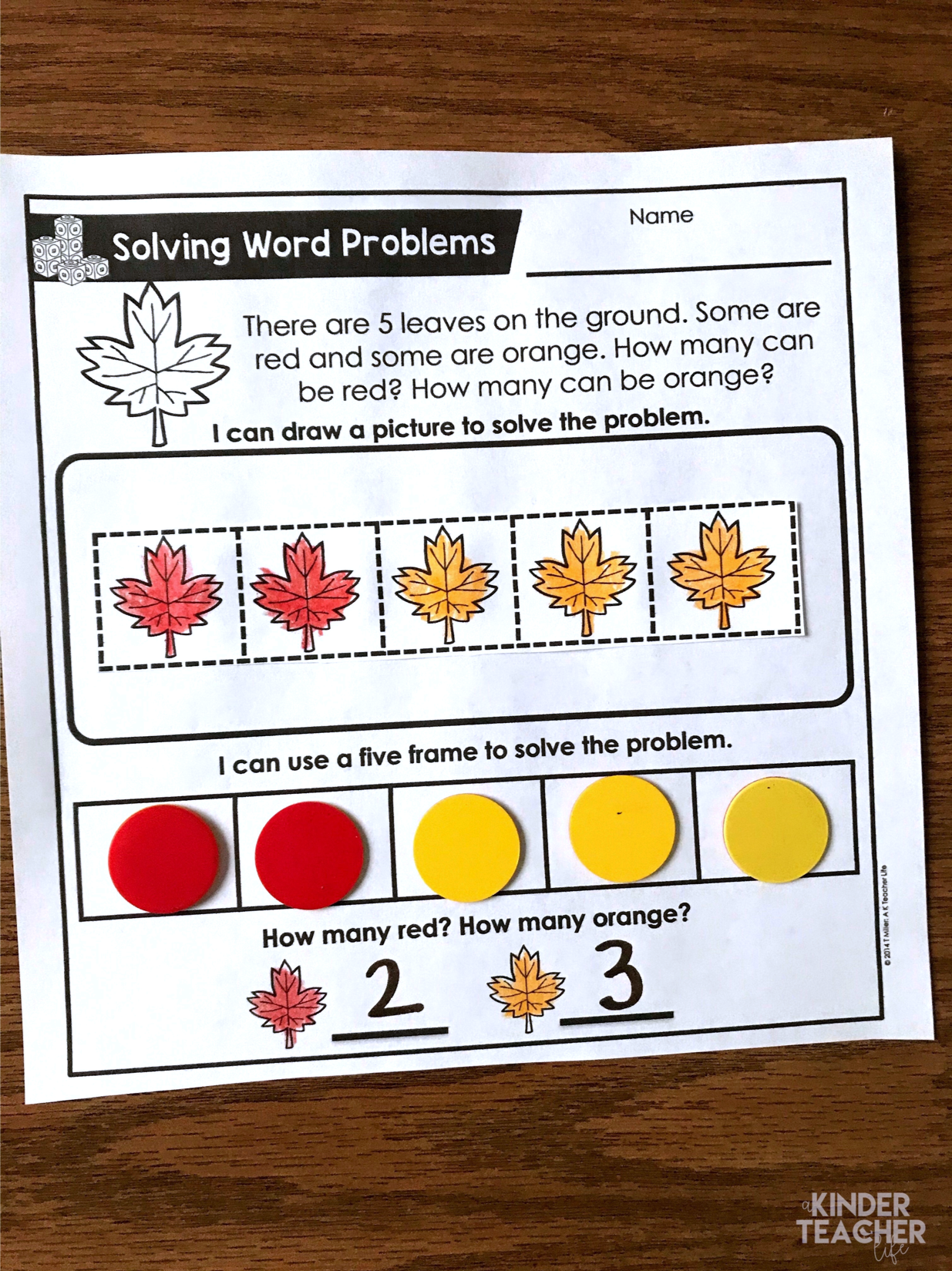 Fall Themed Word Problems