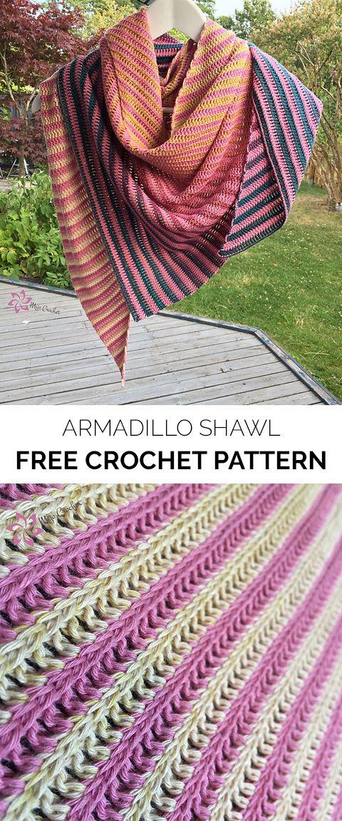 Armadillo Shawl Free Crochet Pattern Maggies Crochet All About