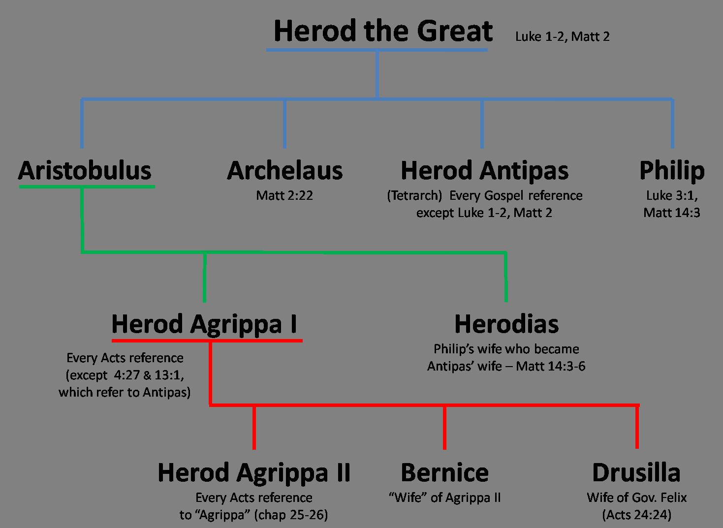 Herod's Family Tree | Family tree, Christian history, Bible study