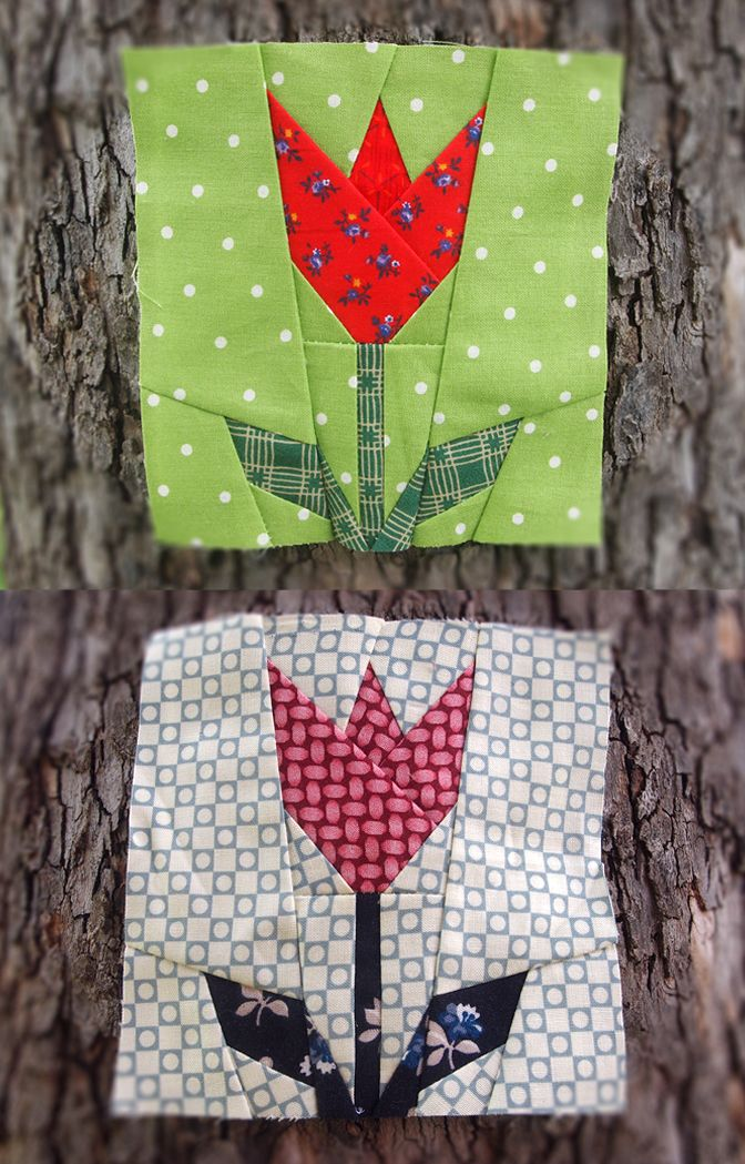 Tulip paper pieced quilt pattern by ProtoQuilt | PATCHWORK ...