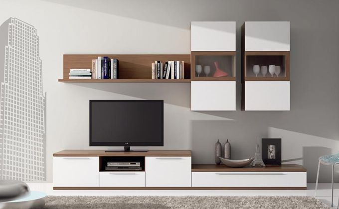Like The Geometry Muebles Salon Blanco Muebles Para Tv Muebles Salon
