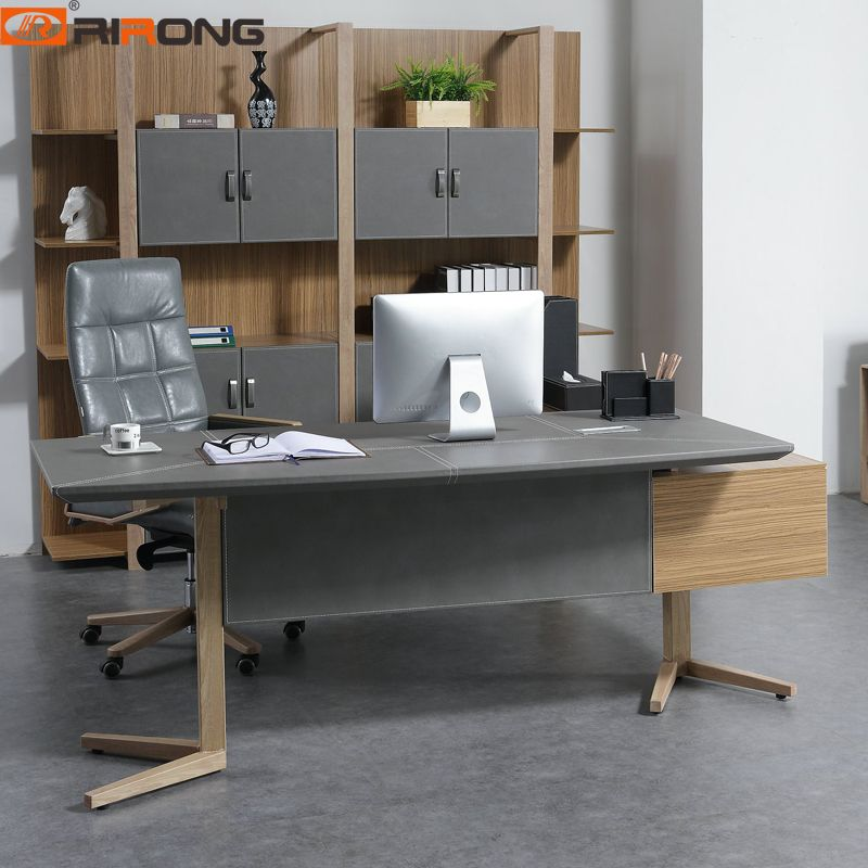 Nordic Design Small Grey Color Office Furniture Set Home Study