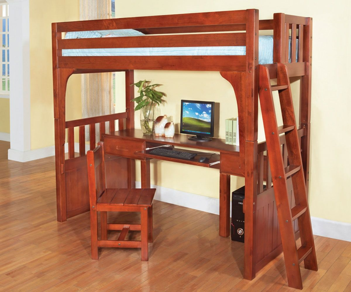 Convertible furniture desk bed - Discovery World Furniture Twin Over Desk Honey Convertible Bunk Beds