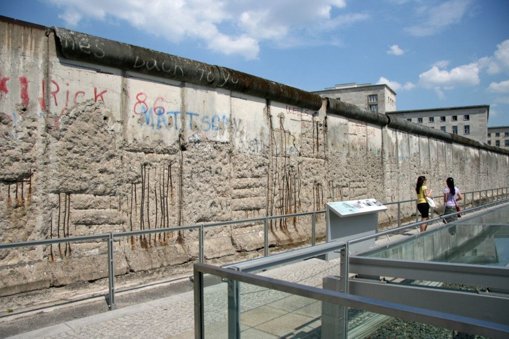 The Berlin Wall Monument At Topographie Des Terrors Topography Of Terror Berlin Topography Monument