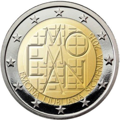 Monedas 2 Euros Eslovenia Tienda Numismatica Y Filatelia Lopez Compra Venta De Monedas Oro Y Plata Sellos España Accesorios Monedas Monedas De Euro Sellos