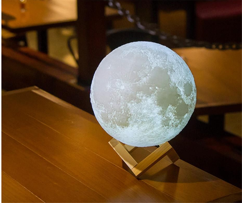 Amazing 3d Moon Lamp Limited Release Mould Design Soft Lighting Night Light