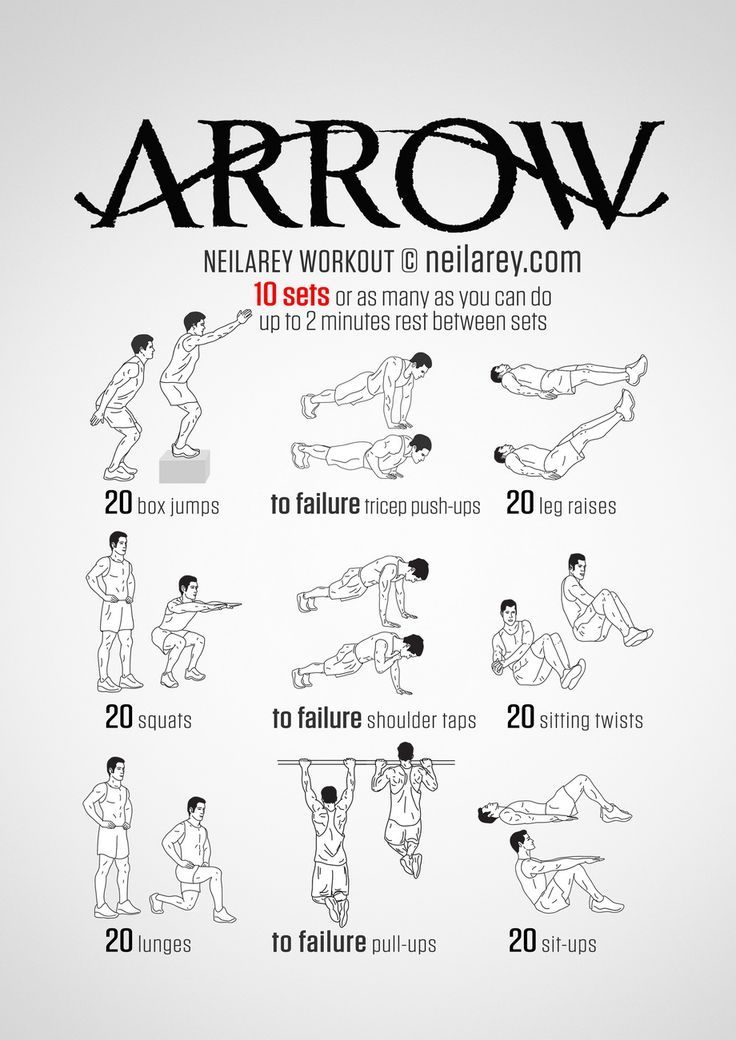 No Equipment Superhero Workout Print Use