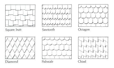 Shingle Patterns Houses Exteriors Siding Trim Columns