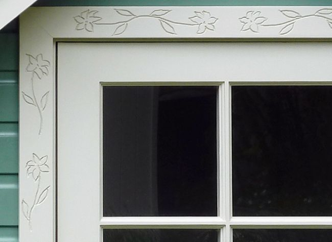 decorative architrave from the handmade garden shed company