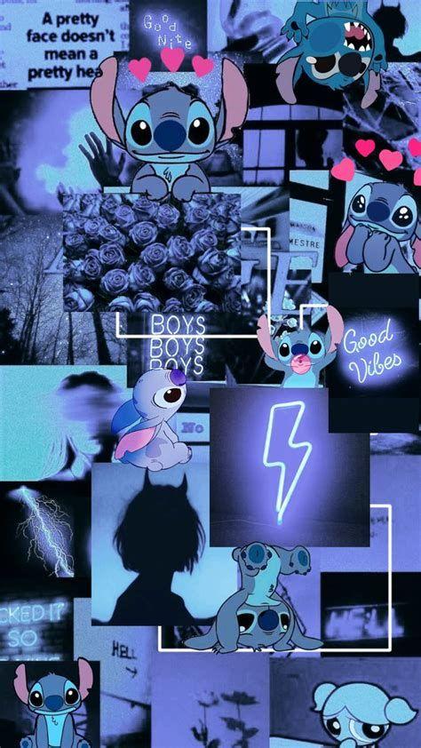 Dark Blue Stitch Em 2021 | Papel De Parede Hippie, Imagem