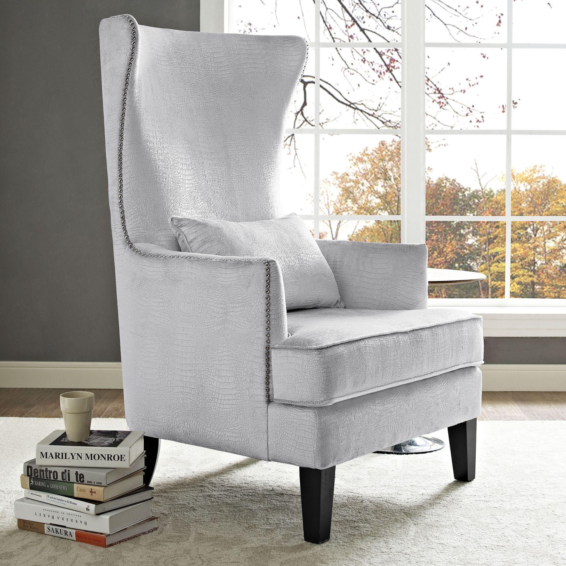 Bristol Velvet Tall Arm Chair