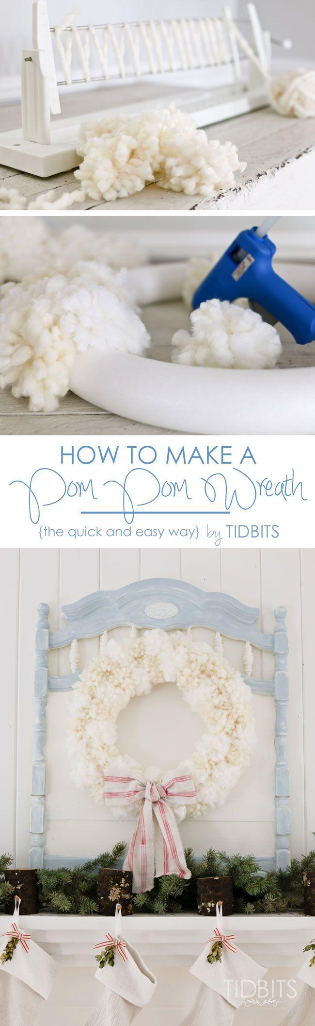 How to Make a Pom Pom Wreath - Tidbits
