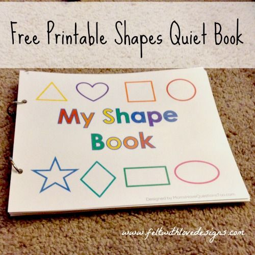 image regarding Printable Shape Book named Pinterest Initiatives: No cost Printable No-Sew Styles Tranquil E-book