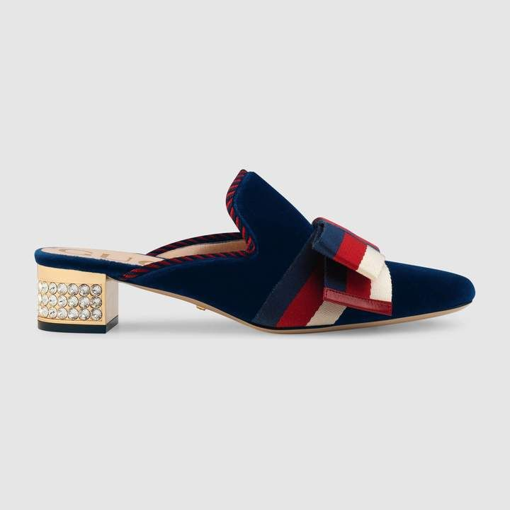 e4b6eda622e Velvet slide with Sylvie bow  velvet plush designs