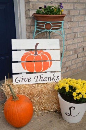 Craft A Diy Pumpkin Stenciled Sign Diy Diy Diy Diy Diy Diy