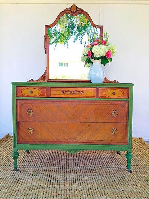 Two-Tone Furniture Makeovers | Cómodas, Muebles con cajones y ...
