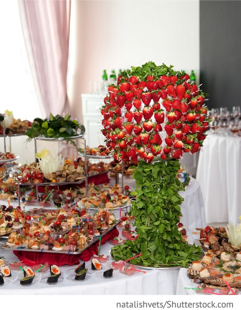 banket buffet mit fingerfood obst f r hochzeit obst. Black Bedroom Furniture Sets. Home Design Ideas