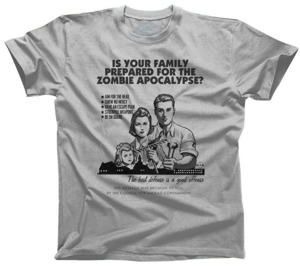 Men S Prepare For Zombies Retro Style T Shirt Geeky Shirt Funny Zombie Shirts Zombie T Shirt