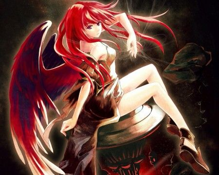 Red Angel Red Hair Anime Characters Anime Warrior Girl Anime Red Hair