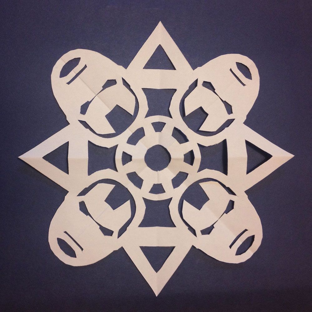 Frozen Superhero Paper Snowflakes The Mary Sue Christmas
