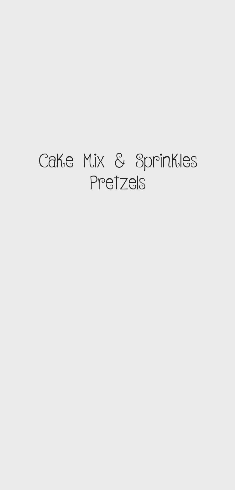 Photo of cake mix and sprinkles pretzel rods are SO easy to make and all the kids love th… – Ostern