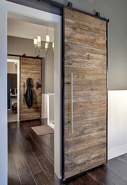 Reasons Reclaimed Wood Is SO HOT Right Now Portes Coulissantes - Porte placard coulissante avec changer serrure porte blindée