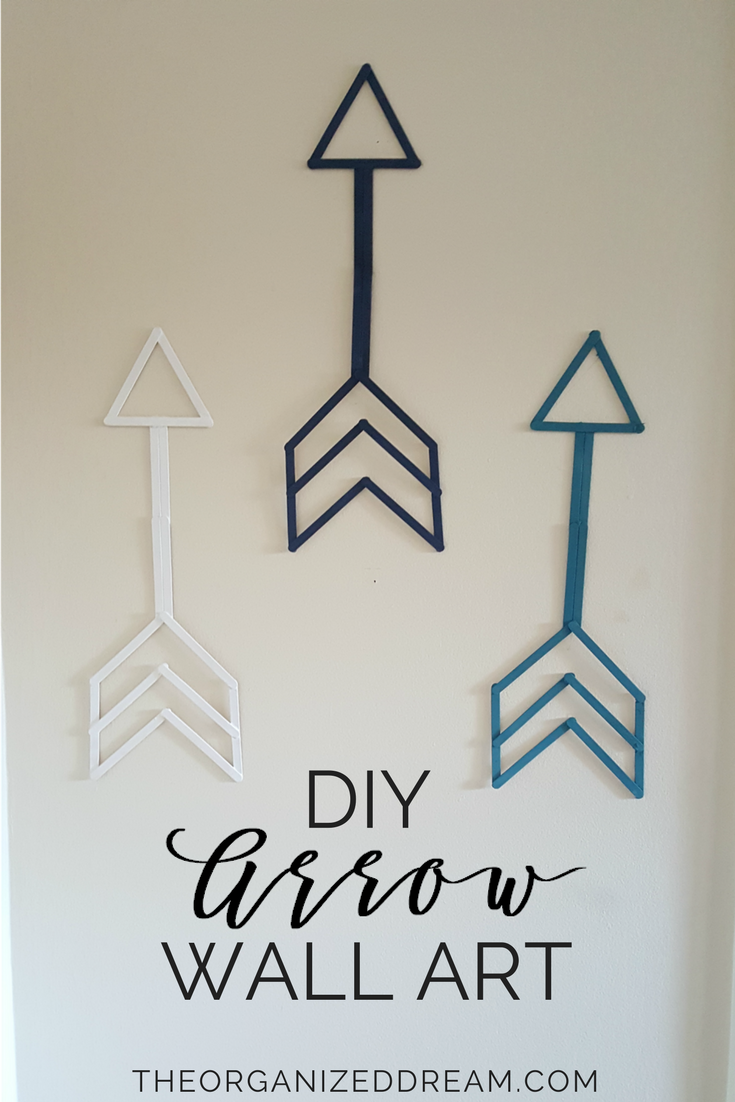 Diy arrow wall art easy home decor craft easyhomedécor cheap