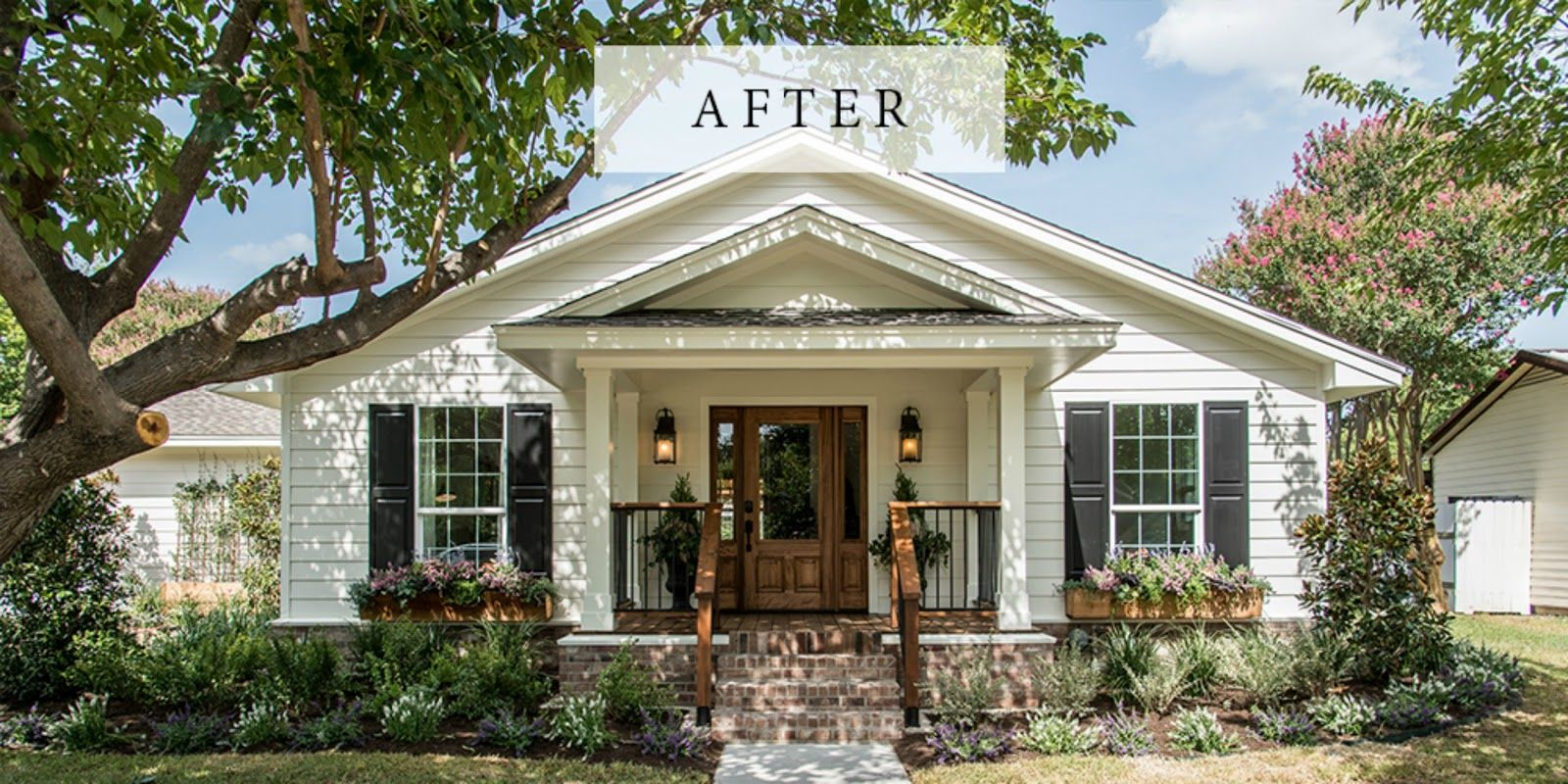 Ranch Home Fixer Upper House Two Bedroom House White Exterior