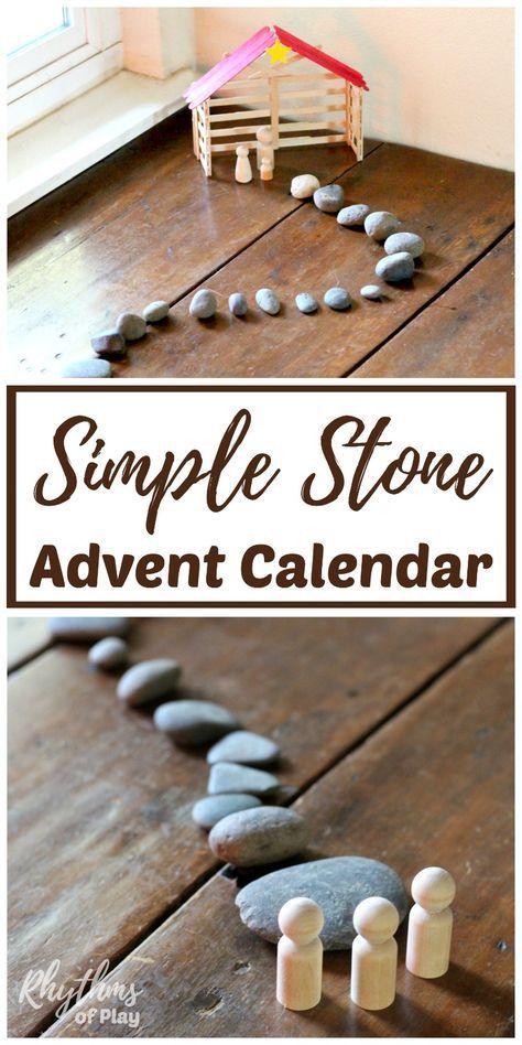 Einfacher Steinweihnachts-Adventskalender   Rhythmen des Spiels