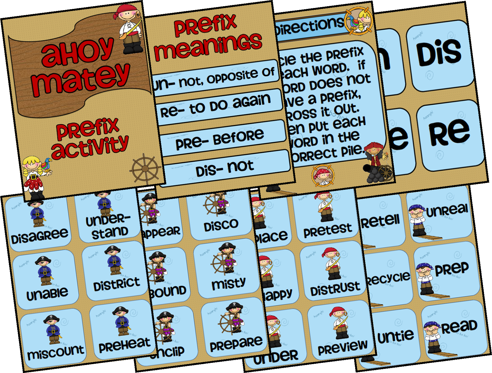 Free Ahoy Matey Prefix Game From Ms Third Grade