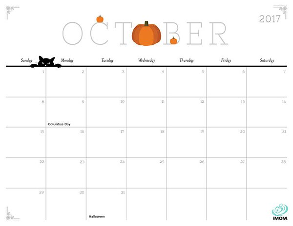 image relating to Free Printable October Calendars named Lovely and Cunning 2019 Calendar No cost, Adorable Cunning