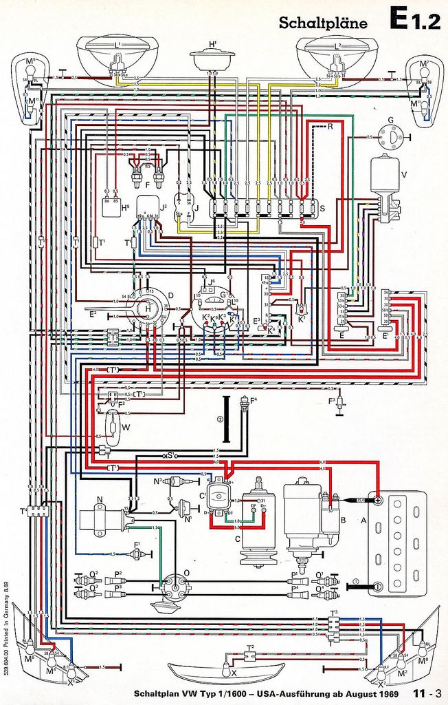 vw t2 1970 wiring diagram honda xrm 110 cdi diagramas electricos vocho bochos pinterest beetles beetle mecanico de autos circuitos clasicos motocicletas
