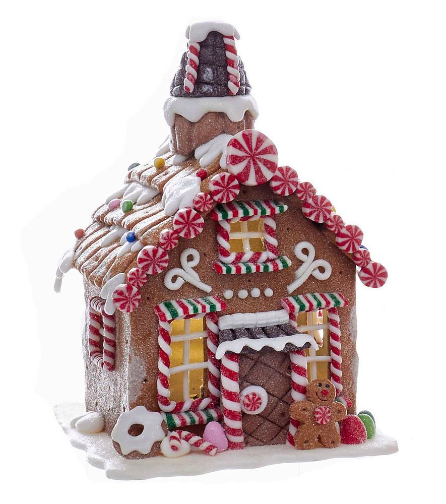Christmas Decorations Led Lighted Peppermint Candy Gingerbread House Gingerbread House Decorations Christmas Gingerbread House Gingerbread House