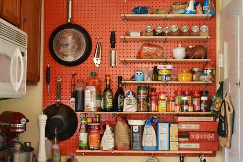 Peg Board In Kitchen