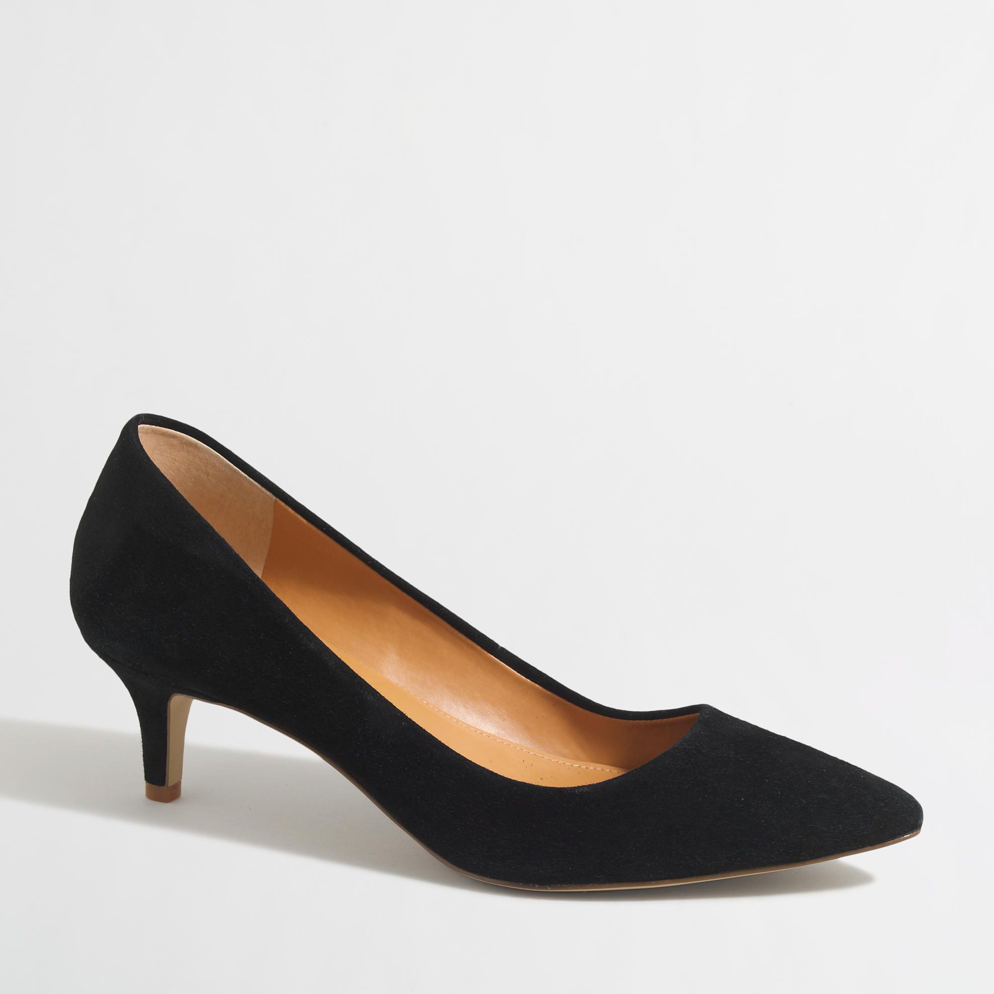 Factory Suede Kitten Heels J Crew Factory Kitten Heels Heels Trending Womens Shoes