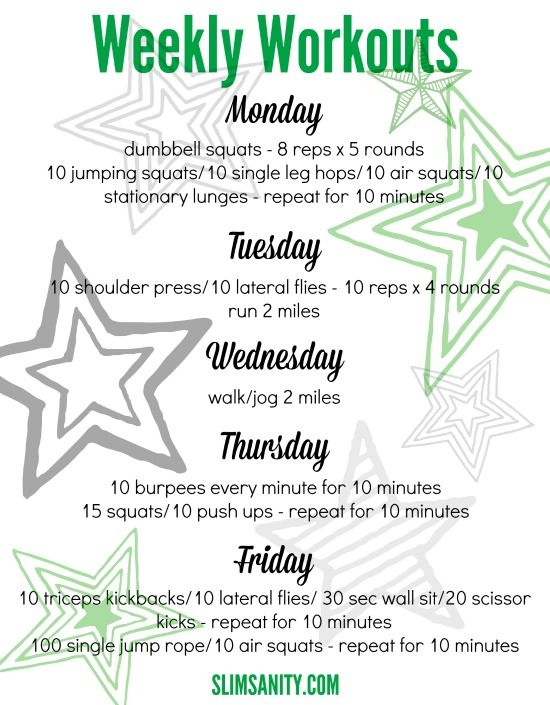 At-Home Weekly Workouts #2 Workout, Exercises and Fitness challenges - weekly workout plan
